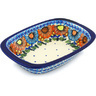 11-inch Stoneware Rectangular Baker with Handles - Polmedia Polish Pottery H0678H