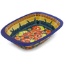 11-inch Stoneware Rectangular Baker with Handles - Polmedia Polish Pottery H0920F