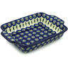 11-inch Stoneware Rectangular Baker with Handles - Polmedia Polish Pottery H1807H