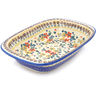 11-inch Stoneware Rectangular Baker with Handles - Polmedia Polish Pottery H2626J