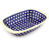 11-inch Stoneware Rectangular Baker with Handles - Polmedia Polish Pottery H3064G