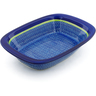 11-inch Stoneware Rectangular Baker with Handles - Polmedia Polish Pottery H3083J
