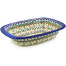 11-inch Stoneware Rectangular Baker with Handles - Polmedia Polish Pottery H6375J