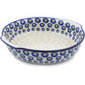 11-inch Stoneware Round Baker with Handles - Polmedia Polish Pottery H0432J