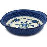 11-inch Stoneware Round Baker with Handles - Polmedia Polish Pottery H2775B
