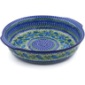 11-inch Stoneware Round Baker with Handles - Polmedia Polish Pottery H5723A