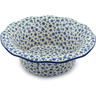 11-inch Stoneware Scalloped Bowl - Polmedia Polish Pottery H1770B