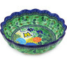 11-inch Stoneware Scalloped Bowl - Polmedia Polish Pottery H4536G