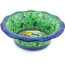 11-inch Stoneware Scalloped Bowl - Polmedia Polish Pottery H6929G