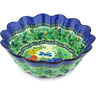 11-inch Stoneware Scalloped Fluted Bowl - Polmedia Polish Pottery H5188G