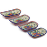11-inch Stoneware Set of 4 Rectangular Bakers - Polmedia Polish Pottery H0868K