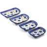 11-inch Stoneware Set of 4 Rectangular Bakers - Polmedia Polish Pottery H3637J
