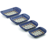 11-inch Stoneware Set of 4 Rectangular Bakers - Polmedia Polish Pottery H3638J