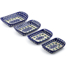 11-inch Stoneware Set of 4 Rectangular Bakers - Polmedia Polish Pottery H3639J
