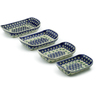 11-inch Stoneware Set of 4 Rectangular Bakers - Polmedia Polish Pottery H5386J