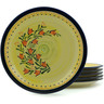 11-inch Stoneware Set of 6 Plates - Polmedia Polish Pottery H2983I