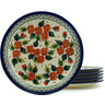 11-inch Stoneware Set of 6 Plates - Polmedia Polish Pottery H2986I
