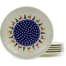 11-inch Stoneware Set of 6 Plates - Polmedia Polish Pottery H3612J