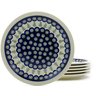 11-inch Stoneware Set of 6 Plates - Polmedia Polish Pottery H4948J