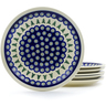 11-inch Stoneware Set of 6 Plates - Polmedia Polish Pottery H4950J