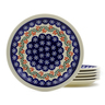 11-inch Stoneware Set of 6 Plates - Polmedia Polish Pottery H4951J