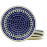 11-inch Stoneware Set of 6 Plates - Polmedia Polish Pottery H4952J