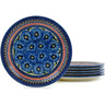 11-inch Stoneware Set of 6 Plates - Polmedia Polish Pottery H5325I