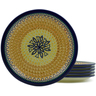 11-inch Stoneware Set of 6 Plates - Polmedia Polish Pottery H5364J
