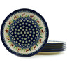 11-inch Stoneware Set of 6 Plates - Polmedia Polish Pottery H5985I