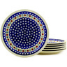 11-inch Stoneware Set of 6 Plates - Polmedia Polish Pottery H6632E