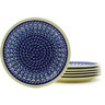 11-inch Stoneware Set of 6 Plates - Polmedia Polish Pottery H8837F