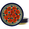 11-inch Stoneware Set of 6 Plates - Polmedia Polish Pottery H8872F