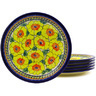 11-inch Stoneware Set of 6 Plates - Polmedia Polish Pottery H8875F