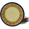 11-inch Stoneware Set of 6 Plates - Polmedia Polish Pottery H8943F