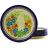 11-inch Stoneware Set of 6 Plates - Polmedia Polish Pottery H8961F