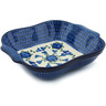 11-inch Stoneware Square Baker with Handles - Polmedia Polish Pottery H2865B