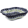 11-inch Stoneware Square Baker with Handles - Polmedia Polish Pottery H5859A