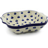 11-inch Stoneware Square Baker with Handles - Polmedia Polish Pottery H5860A