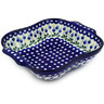 11-inch Stoneware Square Baker with Handles - Polmedia Polish Pottery H8171D