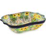 11-inch Stoneware Square Baker with Handles - Polmedia Polish Pottery H8187J