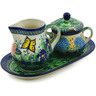11-inch Stoneware Sugar and Creamer Set - Polmedia Polish Pottery H4883K