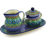 11-inch Stoneware Sugar and Creamer Set - Polmedia Polish Pottery H7138F