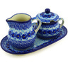 11-inch Stoneware Sugar and Creamer Set - Polmedia Polish Pottery H7865E