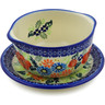 11 oz Stoneware Bouillon Cup with Saucer - Polmedia Polish Pottery H6994K