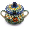 11 oz Stoneware Sugar Bowl - Polmedia Polish Pottery H8297G