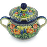 11 oz Stoneware Sugar Bowl - Polmedia Polish Pottery H8689G