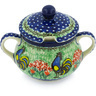 11 oz Stoneware Sugar Bowl - Polmedia Polish Pottery H8996G
