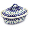 12-inch Stoneware Baker with Cover - Polmedia Polish Pottery H0211D