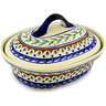 12-inch Stoneware Baker with Cover - Polmedia Polish Pottery H0357D