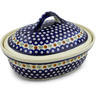 12-inch Stoneware Baker with Cover - Polmedia Polish Pottery H3295C